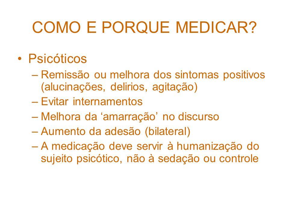 COMO E PORQUE MEDICAR Psicóticos