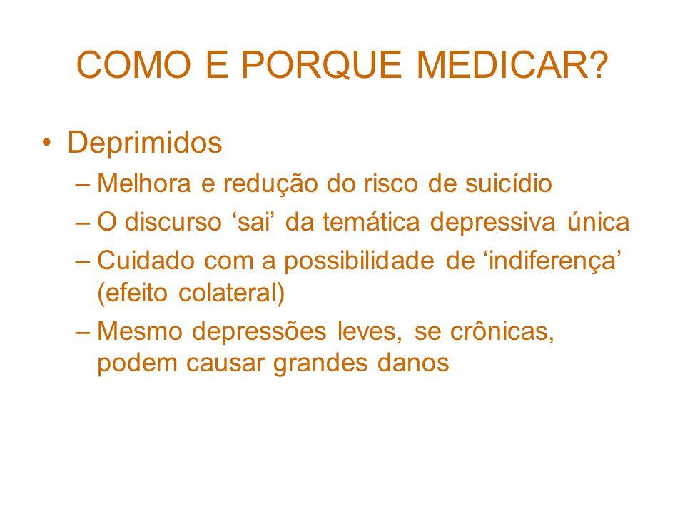 COMO E PORQUE MEDICAR Deprimidos