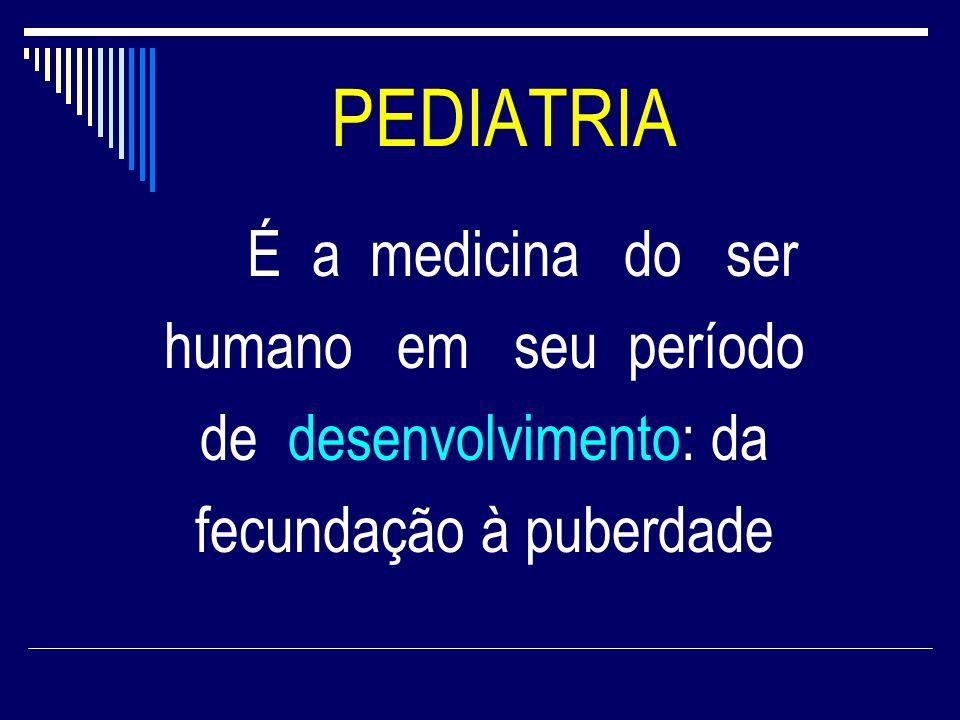 PEDIATRIA humano em seu período de desenvolvimento: da