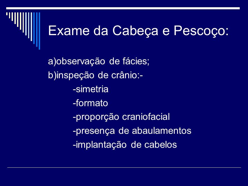 Exame da Cabeça e Pescoço:
