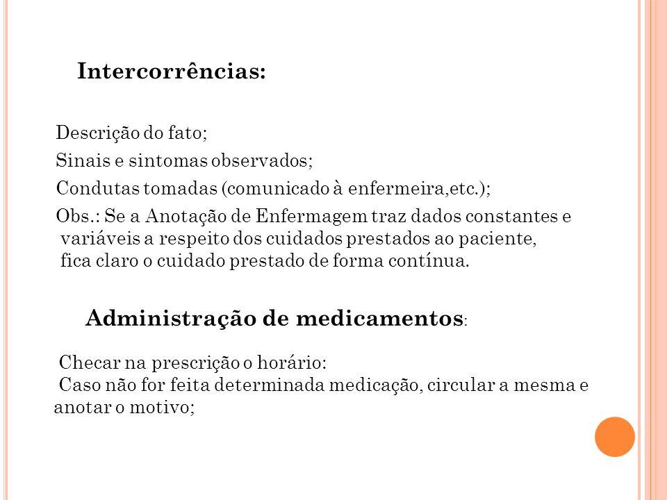 Administração de medicamentos: