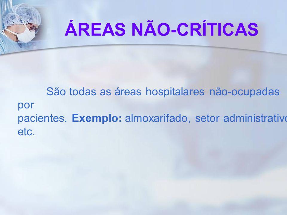 ÁREAS NÃO-CRÍTICASSão todas as áreas hospitalares não-ocupadas por pacientes.