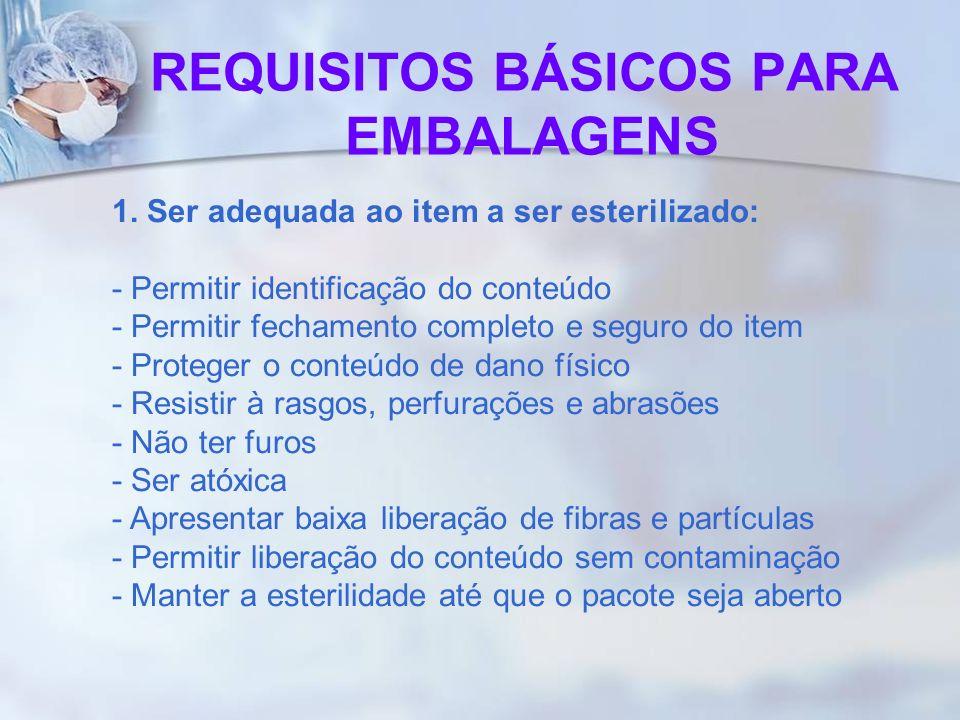 REQUISITOS BÁSICOS PARA EMBALAGENS