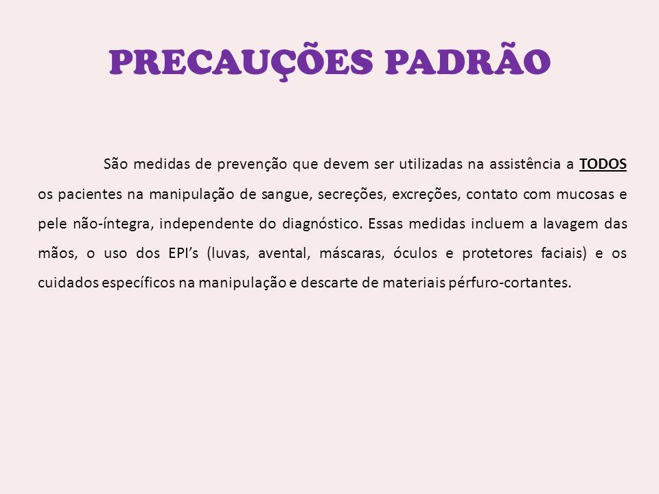 PRECAUÇÕES PADRÃO
