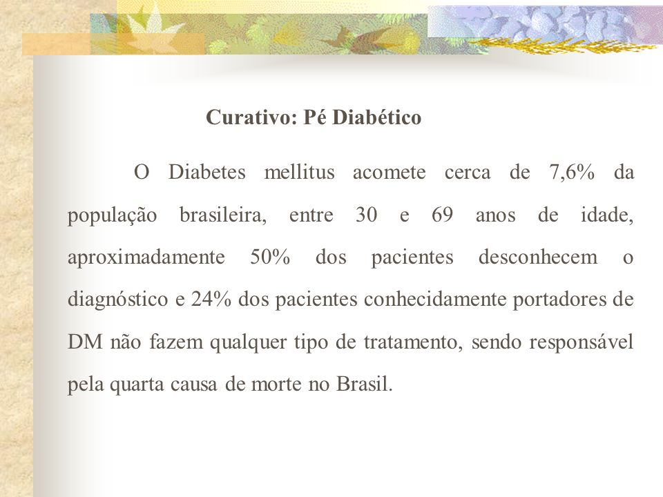 Curativo: Pé Diabético