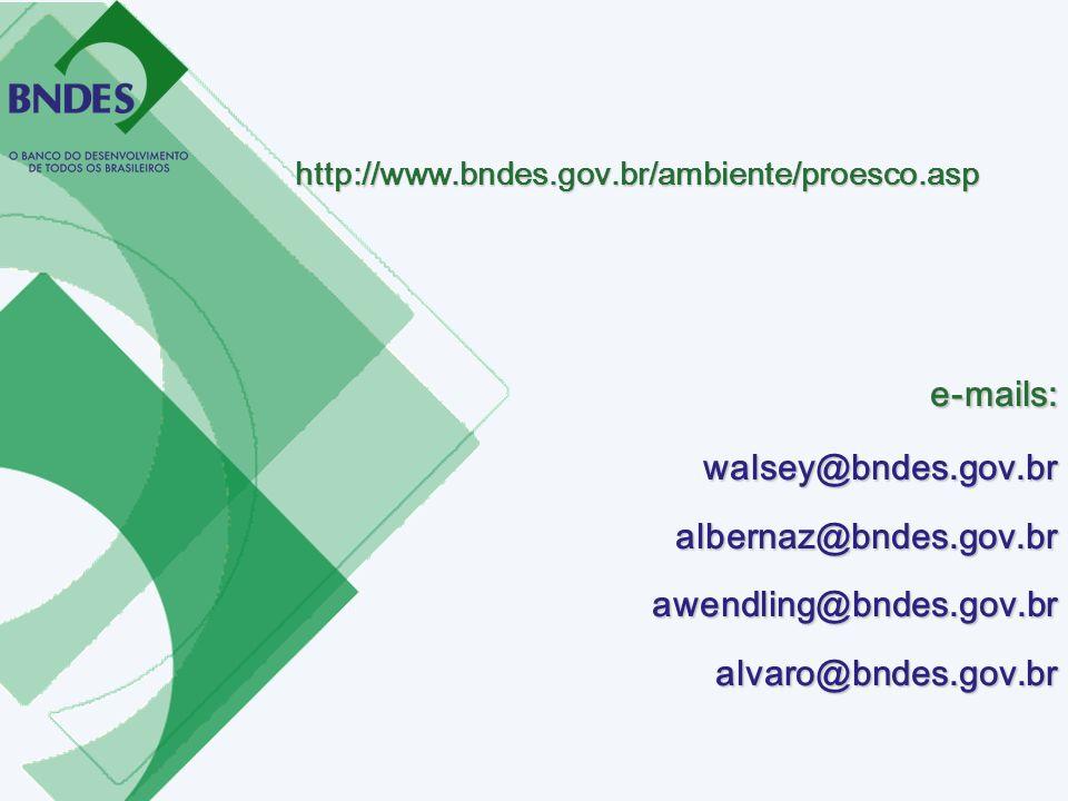 e-mails: walsey@bndes.gov.br albernaz@bndes.gov.br
