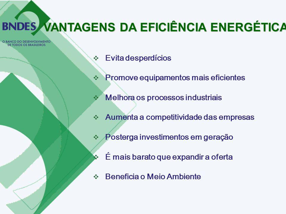 VANTAGENS DA EFICIÊNCIA ENERGÉTICA