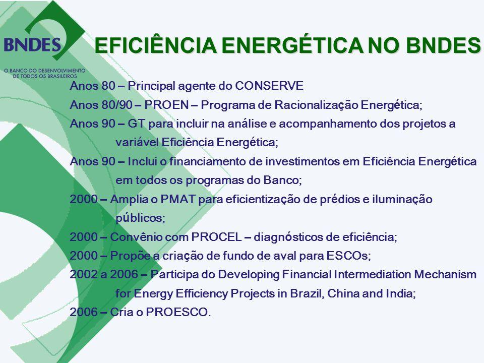 EFICIÊNCIA ENERGÉTICA NO BNDES