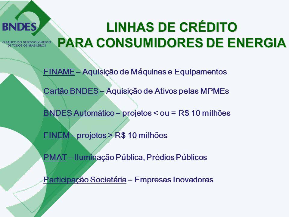 PARA CONSUMIDORES DE ENERGIA