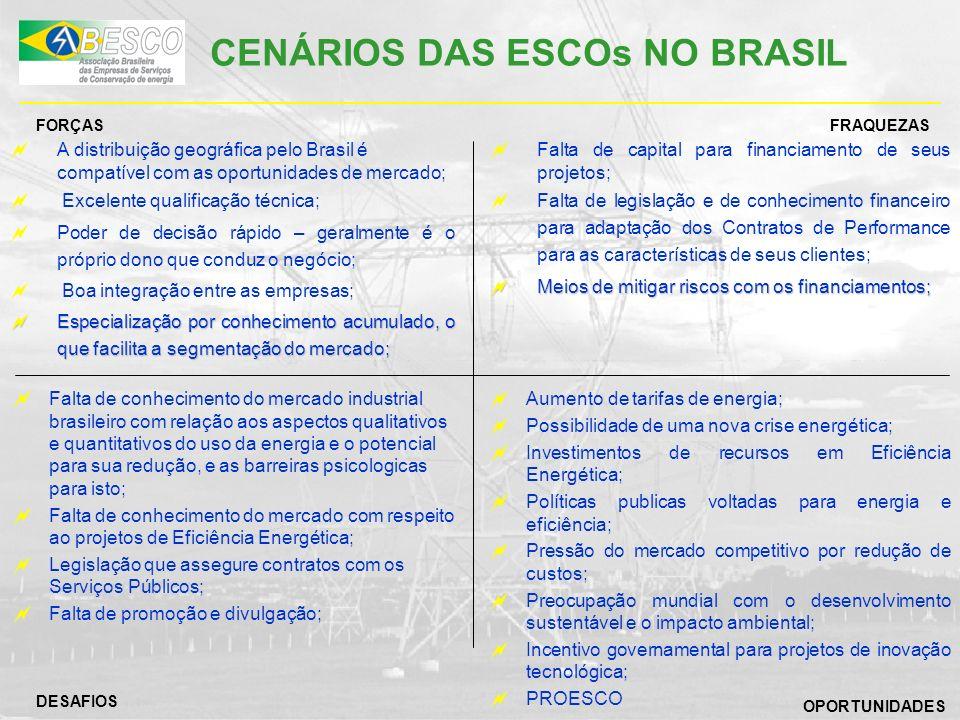 CENÁRIOS DAS ESCOs NO BRASIL