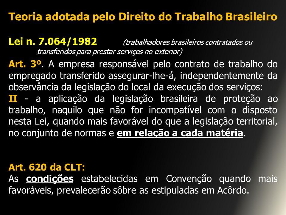 Teoria adotada pelo Direito do Trabalho Brasileiro