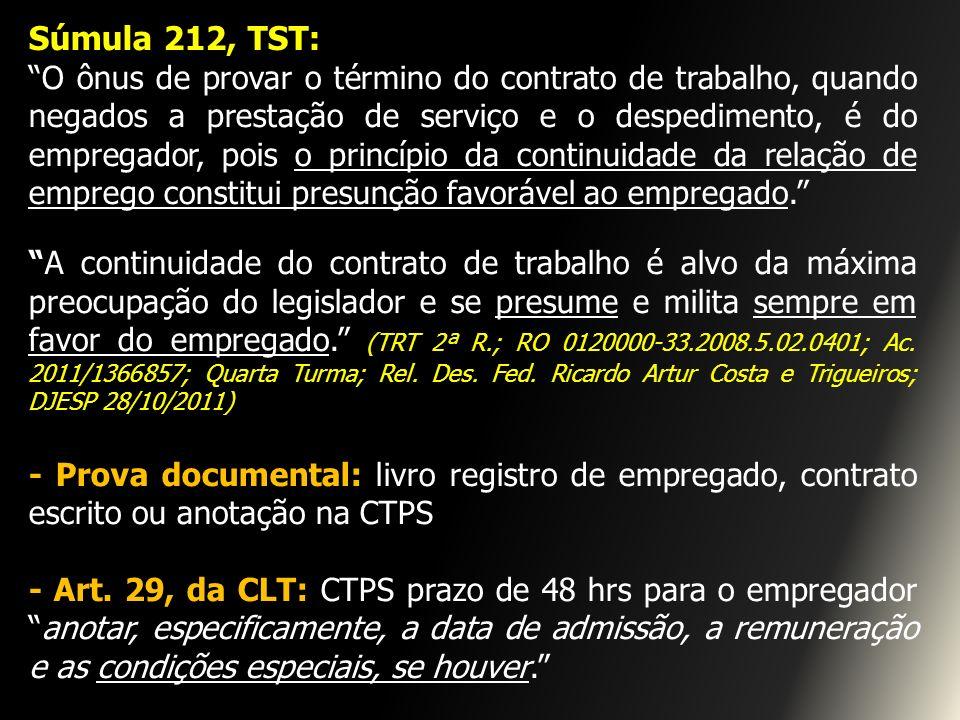 Súmula 212, TST: