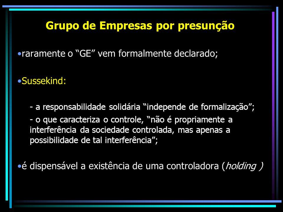 Grupo de Empresas por presunção