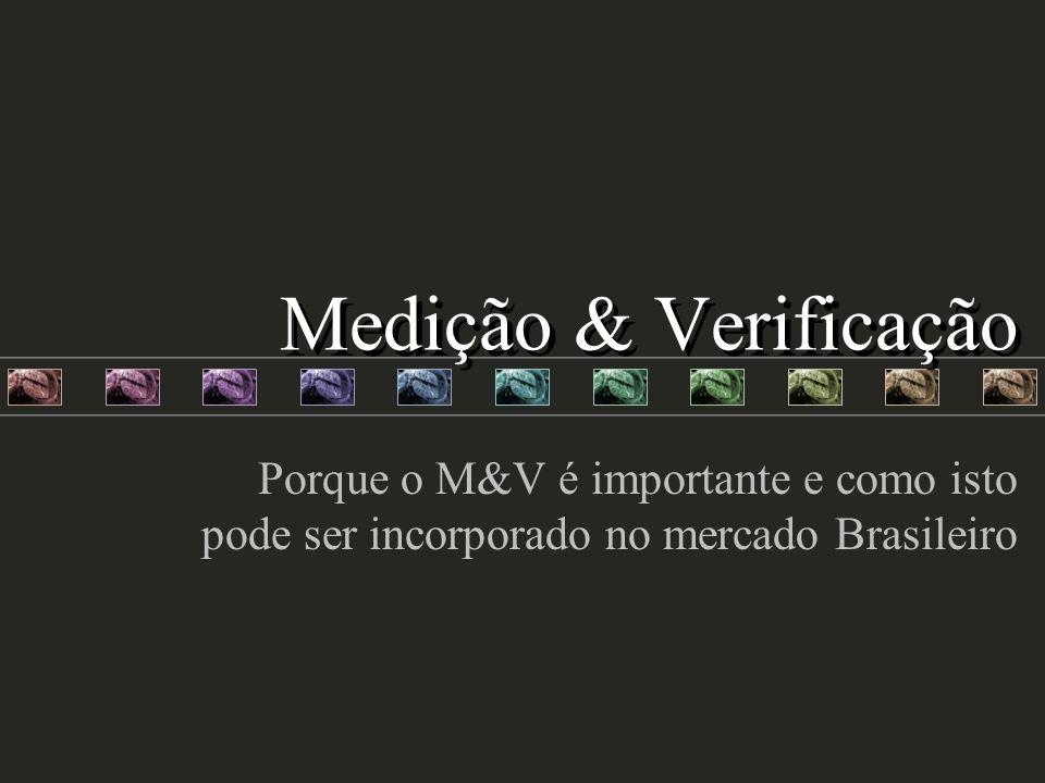 Medição & Verificação Porque o M&V é importante e como isto pode ser incorporado no mercado Brasileiro.