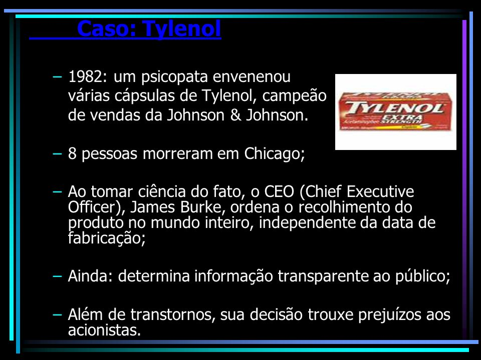 Caso: Tylenol 1982: um psicopata envenenou