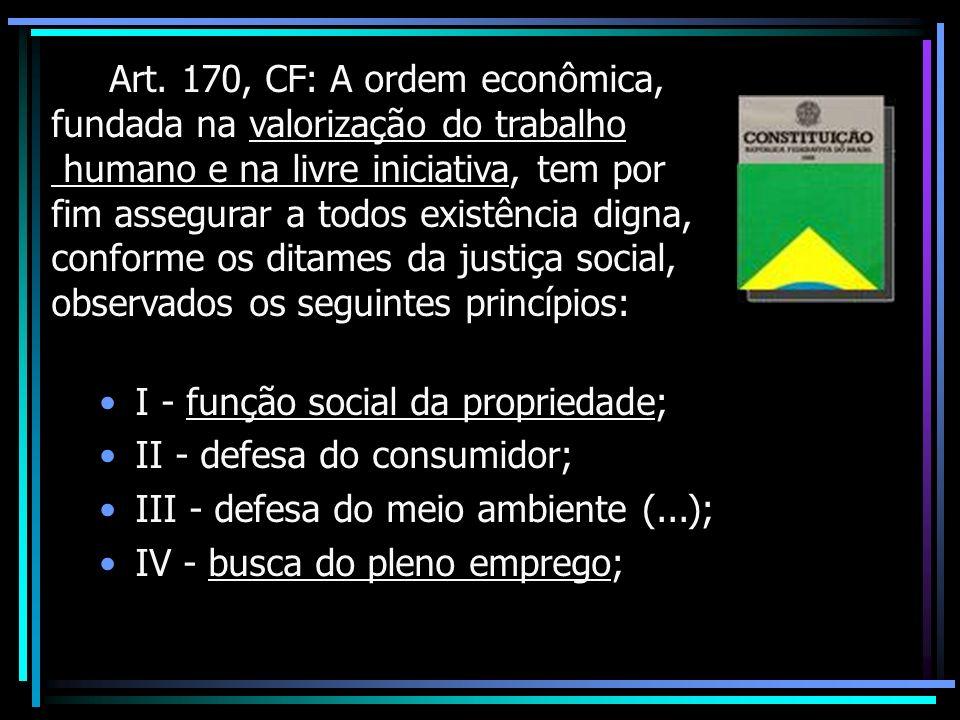 Art. 170, CF: A ordem econômica,