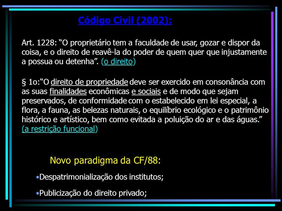 Código Civil (2002): Novo paradigma da CF/88: