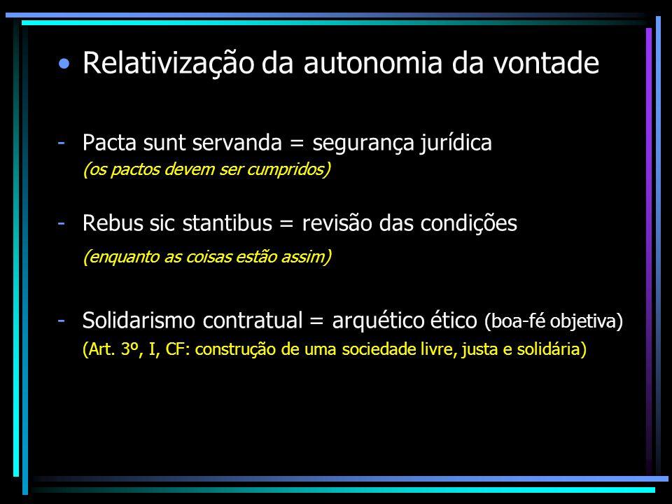Relativização da autonomia da vontade