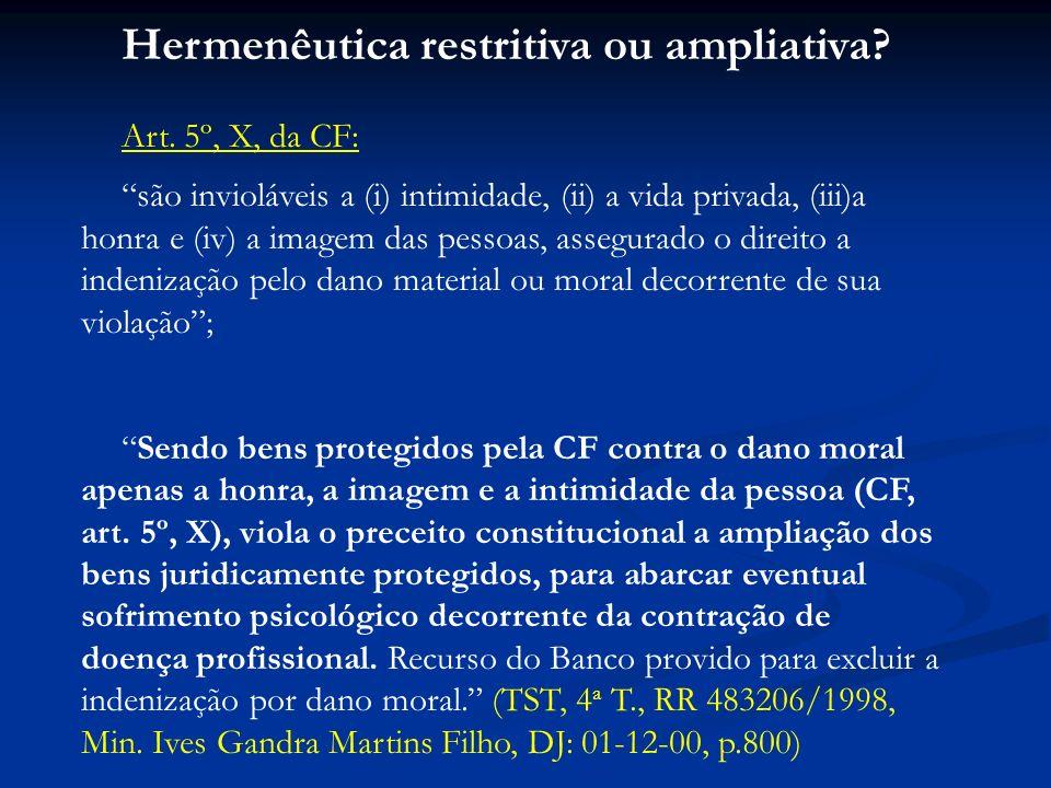 Hermenêutica restritiva ou ampliativa