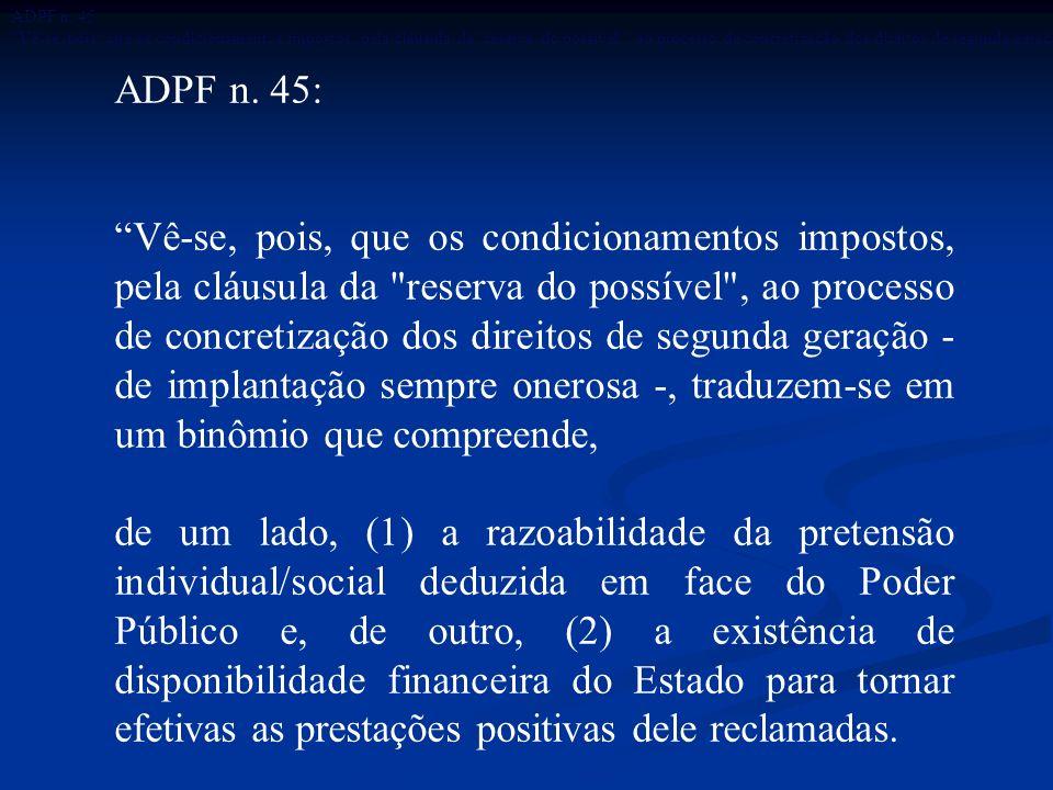 ADPF n. 45: