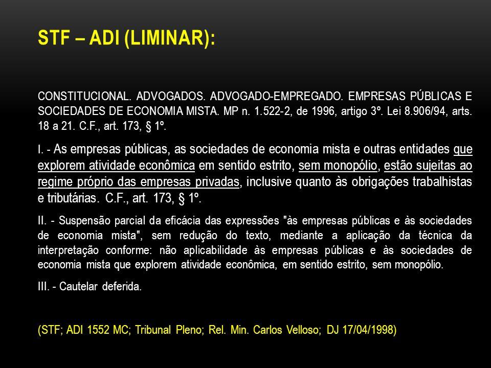 STF – ADI (Liminar):