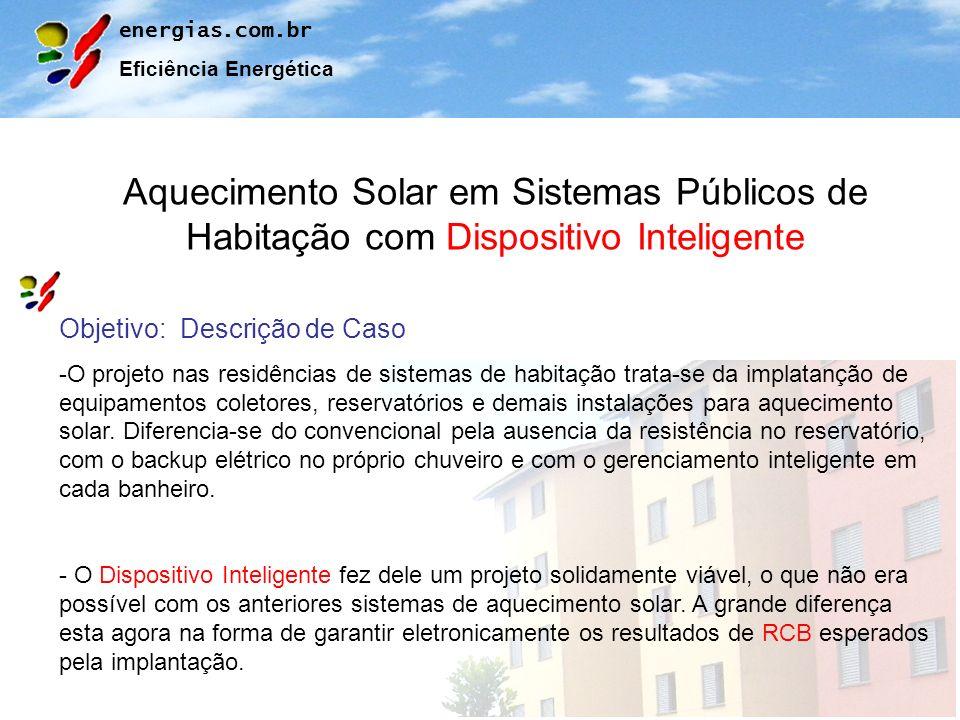 Aquecimento Solar em Sistemas Públicos de Habitação com Dispositivo Inteligente