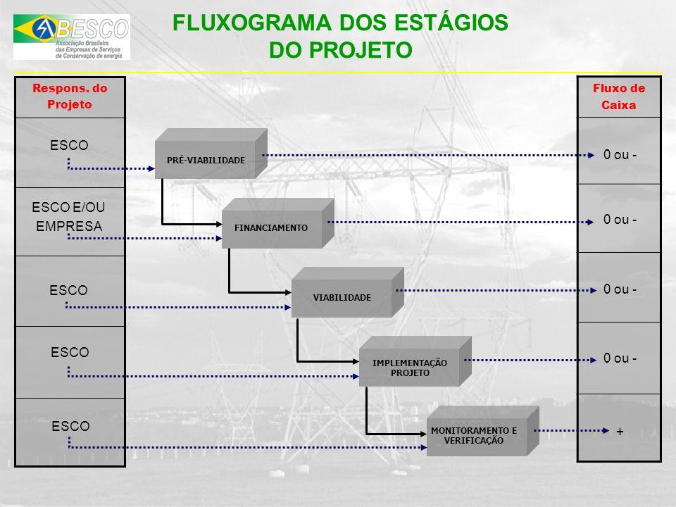 FLUXOGRAMA DOS ESTÁGIOS DO PROJETO