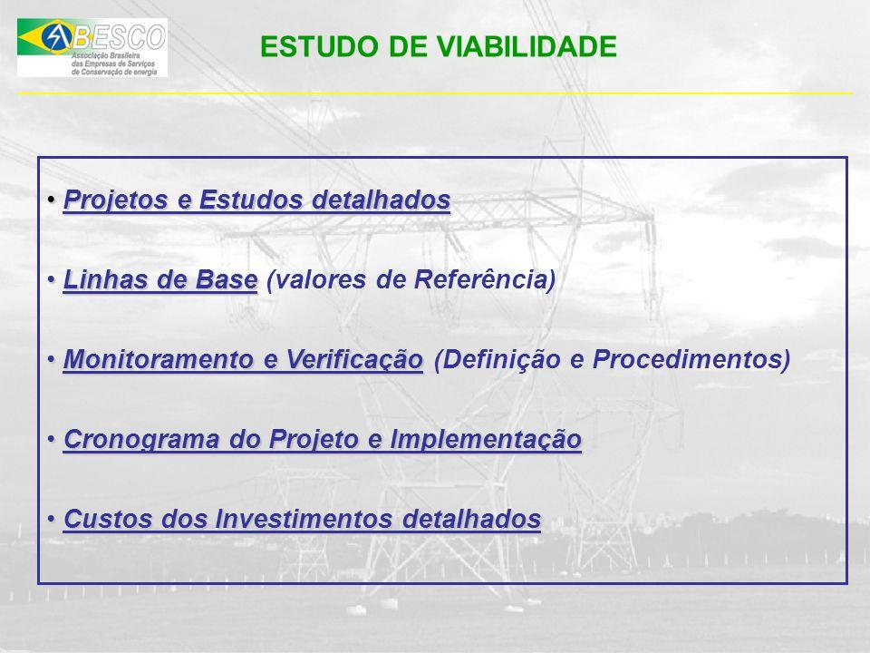 ESTUDO DE VIABILIDADE Projetos e Estudos detalhados