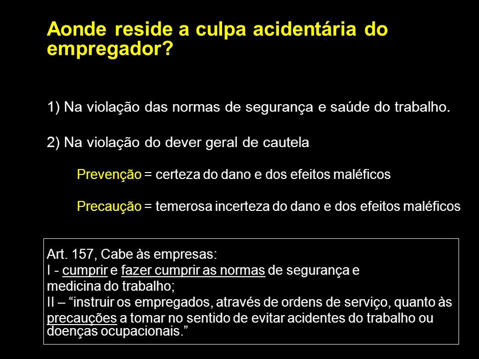 2) Na violação do dever geral de cautela