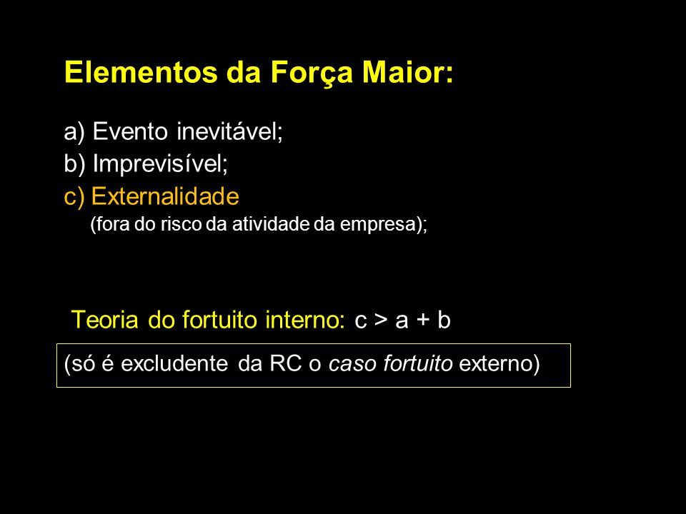 Elementos da Força Maior: