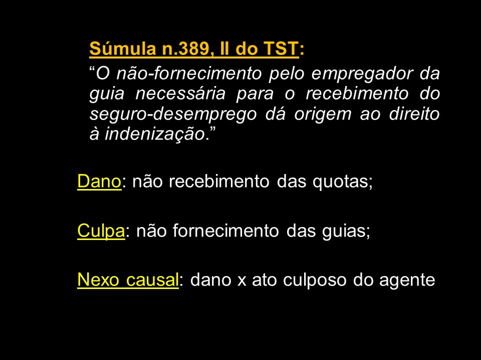 Súmula n.389, II do TST: