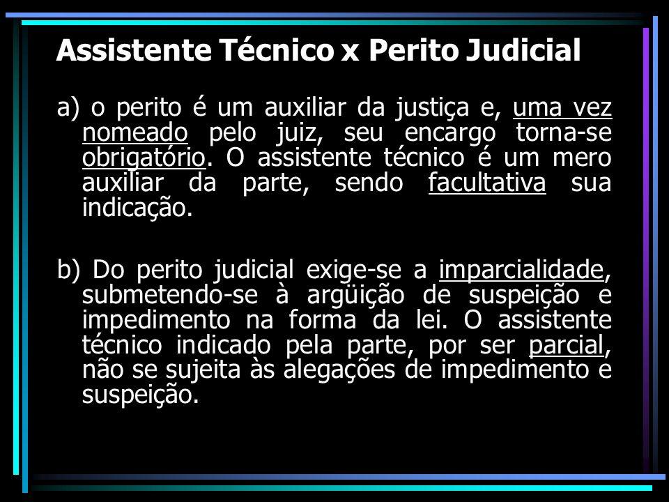 Assistente Técnico x Perito Judicial