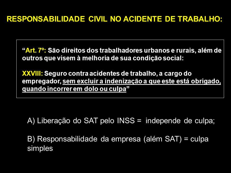 RESPONSABILIDADE CIVIL NO ACIDENTE DE TRABALHO:
