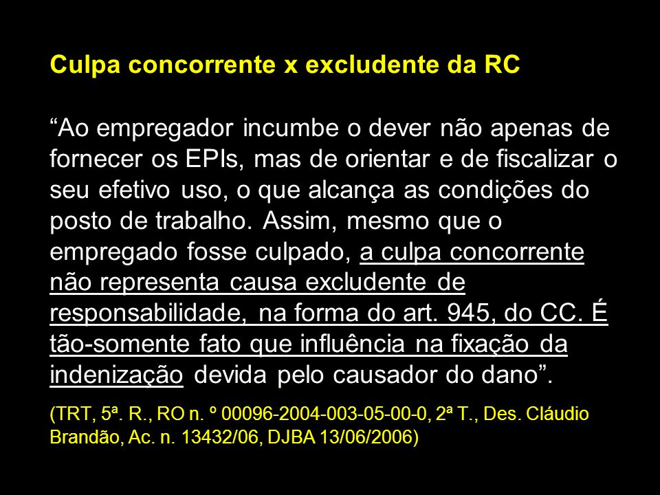 Culpa concorrente x excludente da RC