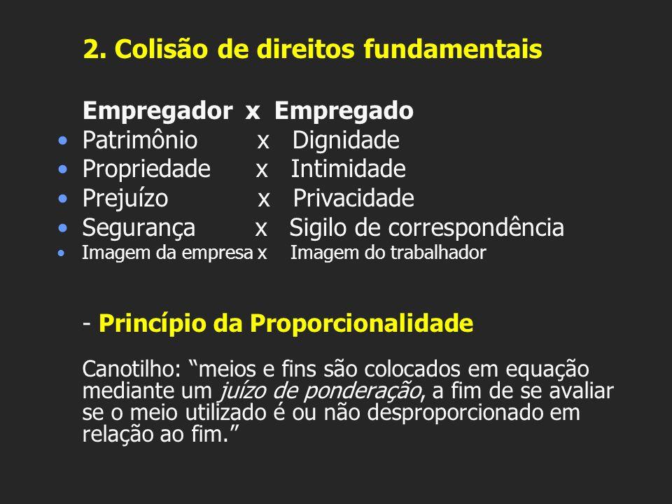 2. Colisão de direitos fundamentais
