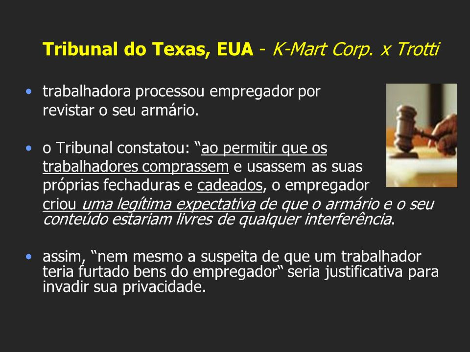 Tribunal do Texas, EUA - K-Mart Corp. x Trotti