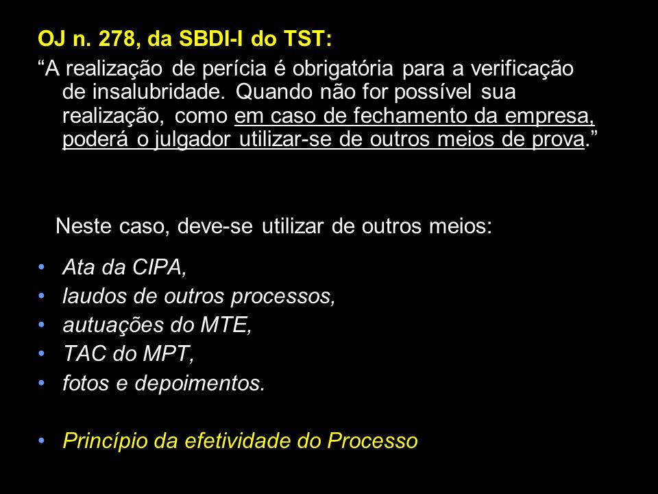 OJ n. 278, da SBDI-I do TST: