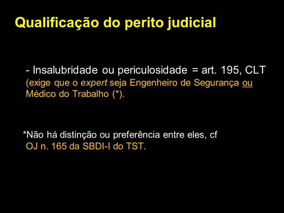 Qualificação do perito judicial