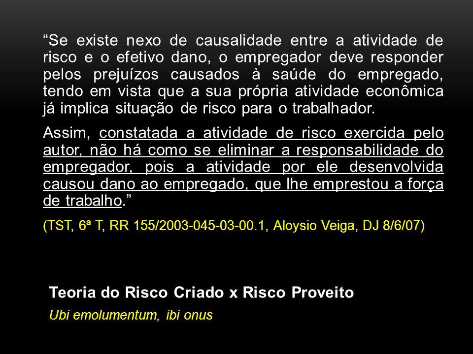 (TST, 6ª T, RR 155/2003-045-03-00.1, Aloysio Veiga, DJ 8/6/07)