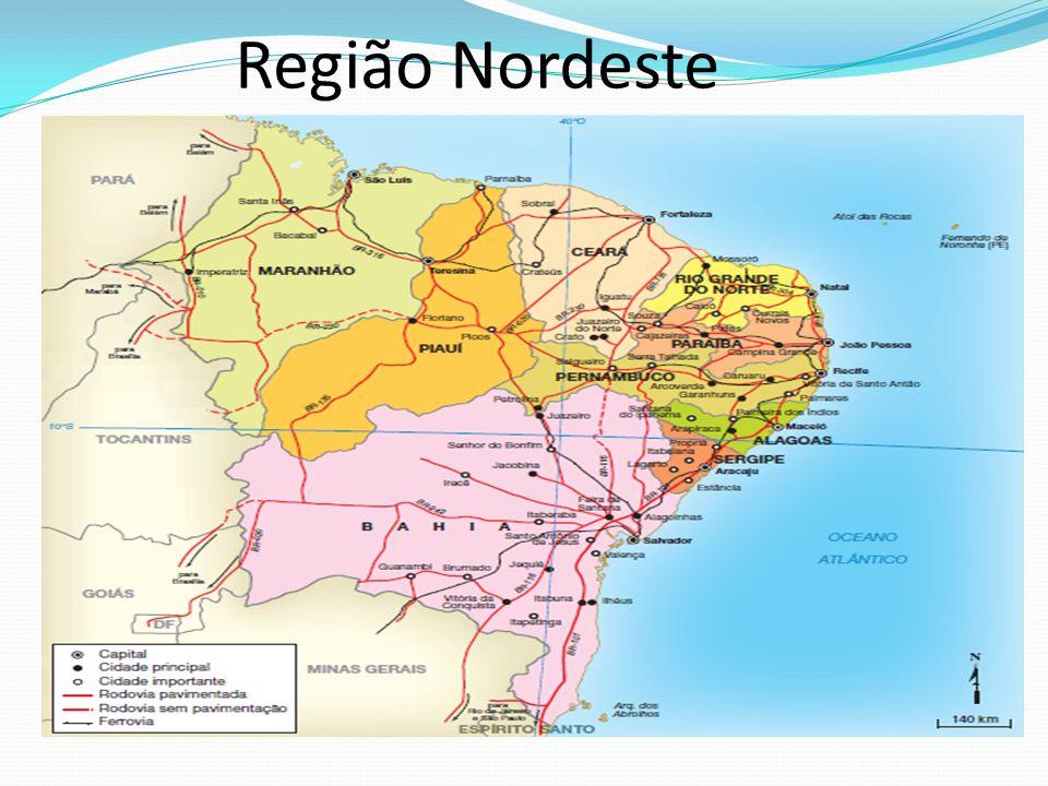 Região Nordeste Professor: a escala indicada se refere ao mapa impresso no módulo.