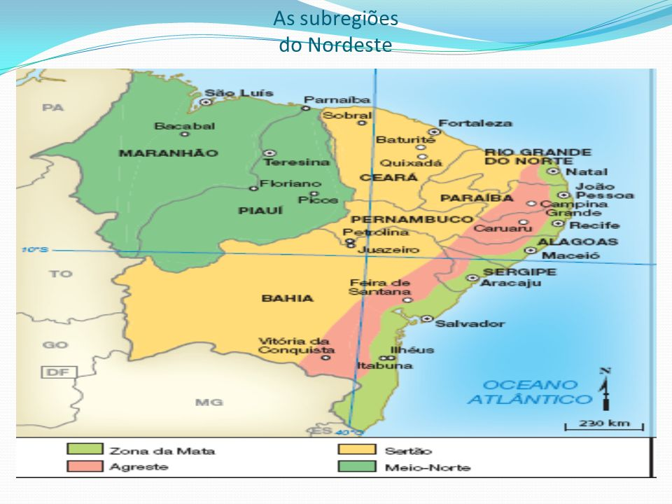 As subregiões do Nordeste