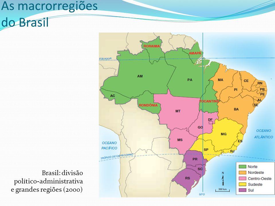 As macrorregiões do Brasil