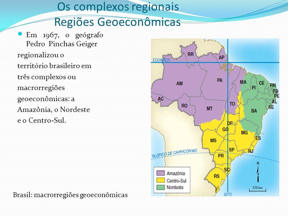 Os complexos regionais Regiões Geoeconômicas