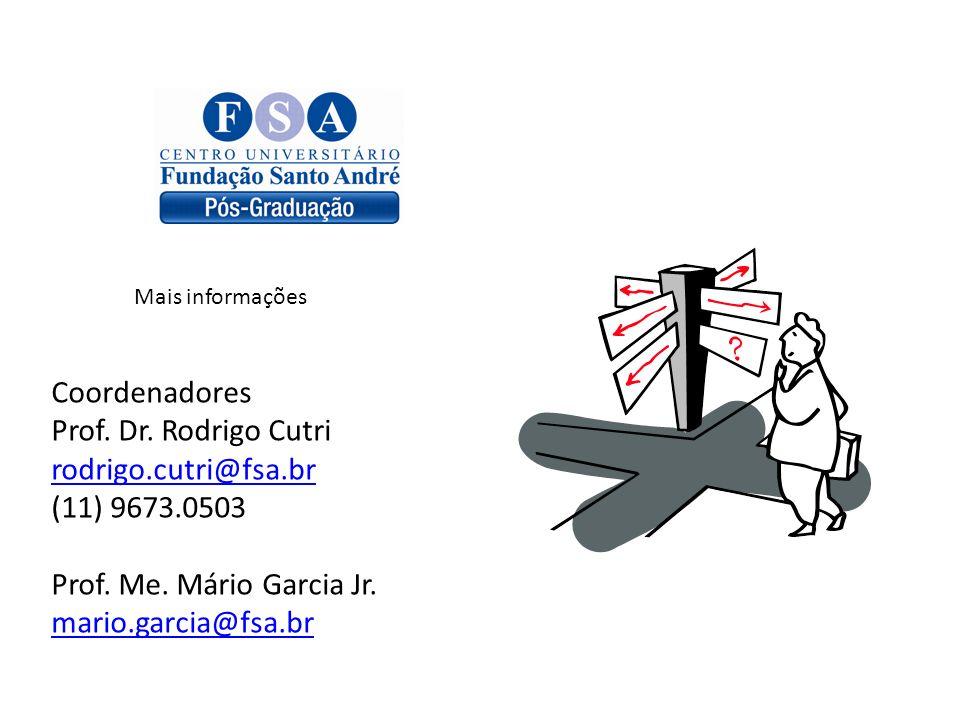 Coordenadores Prof. Dr. Rodrigo Cutri rodrigo.cutri@fsa.br