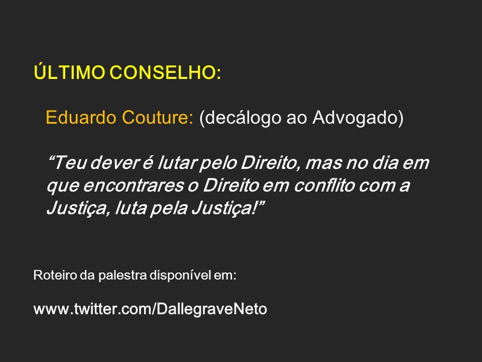 Eduardo Couture: (decálogo ao Advogado)