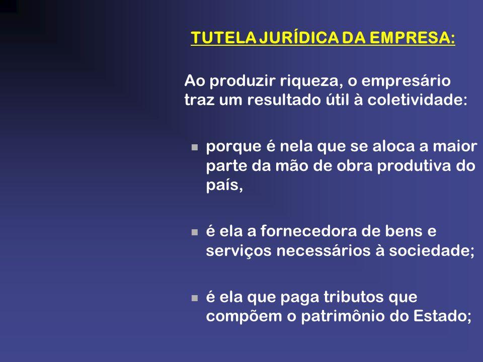 TUTELA JURÍDICA DA EMPRESA: