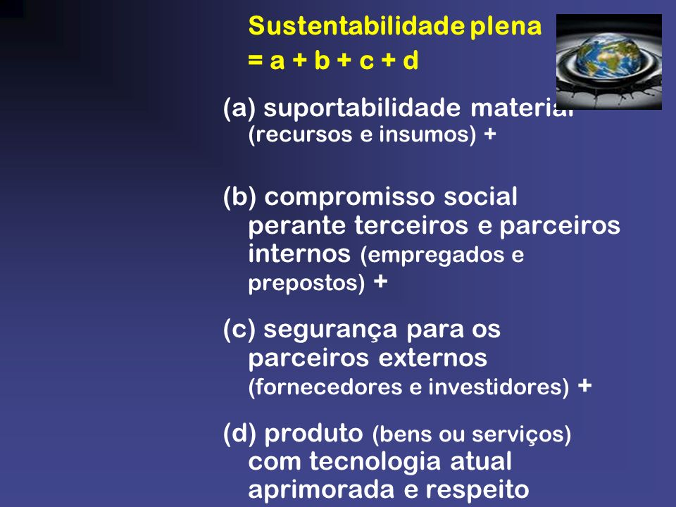 Sustentabilidade plena