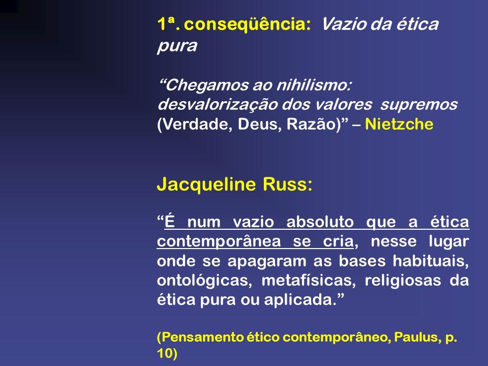Jacqueline Russ: 1ª. conseqüência: Vazio da ética pura