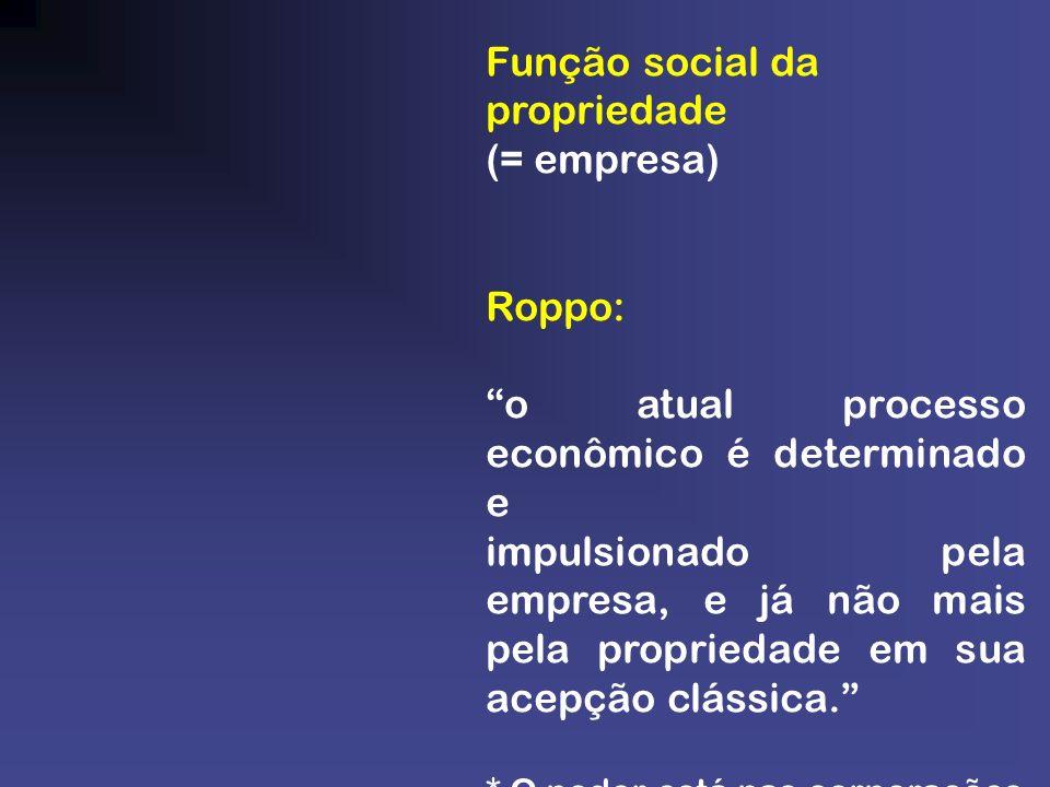 Função social da propriedade (= empresa)