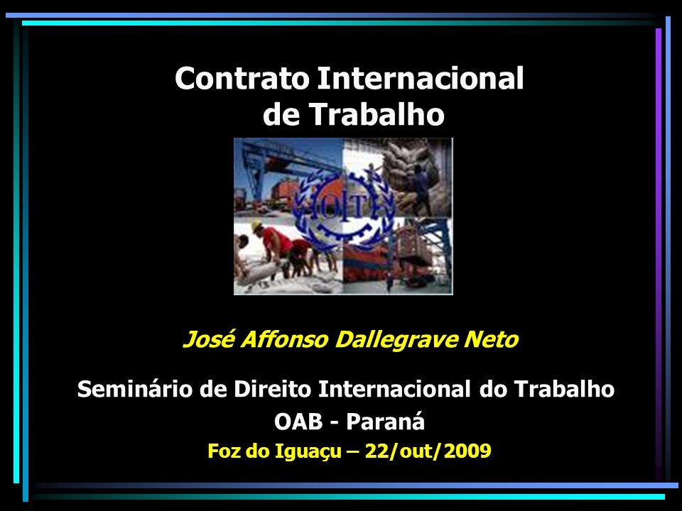 Contrato Internacional de Trabalho